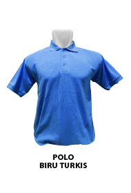 Polo biru turkis