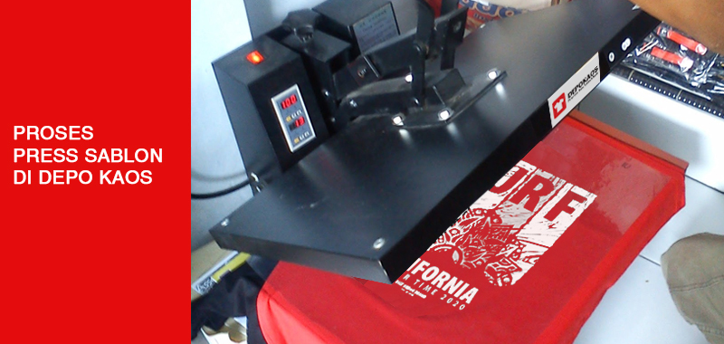 Proses Press Sablon Depo Kaos